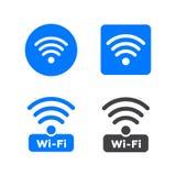Icone di wifi e della radio Icona di wifi di simbolo della rete wireless collegare Immagini Stock