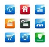 Icone di WWW Immagini Stock