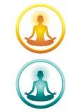 Icone di yoga Immagine Stock
