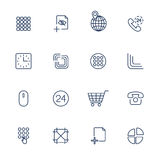 Icone differenti dell'interfaccia dell'utente Fotografie Stock