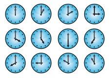 Icone differenti dell'orologio Immagini Stock Libere da Diritti