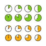 Icone differenti di tempo su bianco royalty illustrazione gratis
