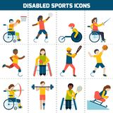 Icone disabili di sport Fotografie Stock Libere da Diritti