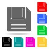 Icone a disco magnetico Elementi delle icone colorate web umano Icona premio di progettazione grafica di qualità Icona semplice p Fotografia Stock Libera da Diritti