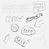 Icone disegnate a mano di acquisto royalty illustrazione gratis