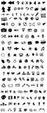 Icone disegnate a mano di percorso Fotografia Stock