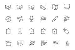 Icone disegnate a mano 58 di scarabocchio di istruzione Fotografie Stock Libere da Diritti