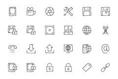 Icone disegnate a mano 4 di scarabocchio di media Fotografia Stock Libera da Diritti