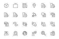 Icone disegnate a mano 5 di scarabocchio di media Fotografie Stock Libere da Diritti
