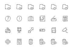 Icone disegnate a mano 7 di scarabocchio di media Fotografie Stock
