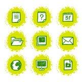 Icone disegnate a mano di Web Fotografie Stock