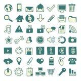 49 icone disegnate a mano di web Fotografie Stock Libere da Diritti