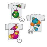 Icone divertenti della maglietta Immagine Stock