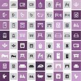 20 icone domestiche Fotografia Stock