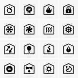 Icone domestiche astute Fotografia Stock