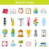 Icone domestiche della decorazione illustrazione di stock