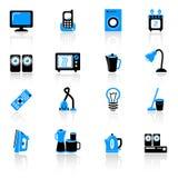 Icone domestiche della strumentazione Immagini Stock Libere da Diritti