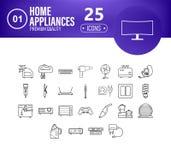 Icone domestiche di applience messe royalty illustrazione gratis