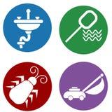 Icone domestiche di manutenzione Fotografia Stock Libera da Diritti