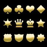 Icone dorate illustrazione di stock