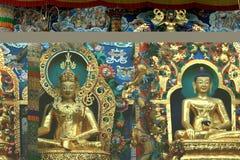 Icone dorate del Buddha Fotografia Stock