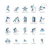 Icone e logos dei giochi di sport messi royalty illustrazione gratis