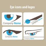 Icone e logos dell'occhio Immagini Stock Libere da Diritti