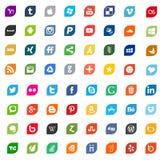 Icone e logos sociali di media Fotografia Stock Libera da Diritti