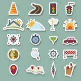 Icone e mappa del trasporto royalty illustrazione gratis