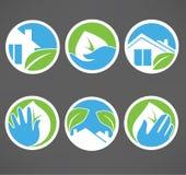 Icone e raccolta degli emblemi Immagine Stock
