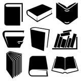 Icone e segni del libro impostati Immagine Stock