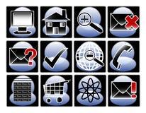 Icone e simboli del calcolatore Fotografie Stock Libere da Diritti