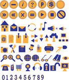 Icone e tasti di Web Fotografia Stock Libera da Diritti