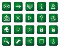 Icone e tasti di Web illustrazione di stock