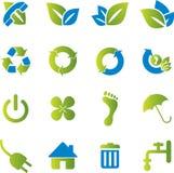 Icone ecologiche Immagini Stock