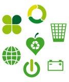 Icone ecologiche 2 Fotografie Stock