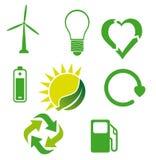 Icone ecologiche 3 Fotografia Stock