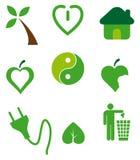 Icone ecologiche Fotografie Stock Libere da Diritti