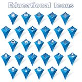 Icone educative royalty illustrazione gratis