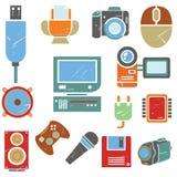 Icone elettroniche Fotografie Stock