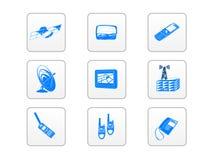 Icone elettroniche di tecnologia Immagine Stock