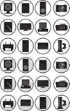 Icone elettroniche impostate Immagini Stock Libere da Diritti