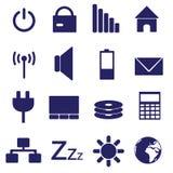 Icone eps10 di indicazione del pc e del computer portatile Illustrazione Vettoriale