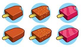 Icone eschimesi della torta Fotografia Stock Libera da Diritti
