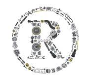 Icone för handelfläcken med automatiskn särar för bil Royaltyfri Foto