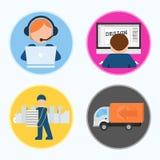 icone Fasi di produzione di stampa CMYK Illustrazione di vettore illustrazione di stock