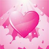 Icone floreali di amore Fotografie Stock