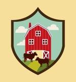Icone fresche dell'emblema dell'azienda agricola Fotografie Stock Libere da Diritti
