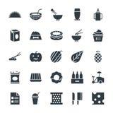 Icone fresche 12 di vettore dell'alimento Fotografia Stock