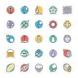 Icone fresche 4 di vettore della natura royalty illustrazione gratis